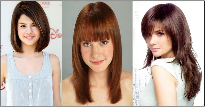 Trend model potongan gaya rambut wanita masa kini sesuai dengan bentuk wajah segitiga 1